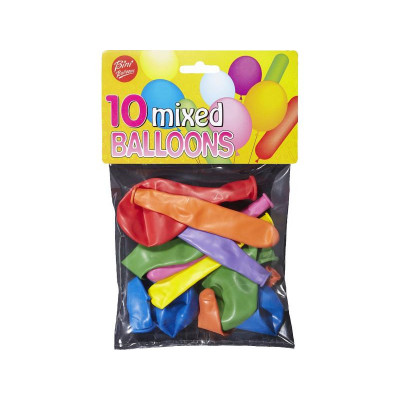 Ballons assortis (x10)