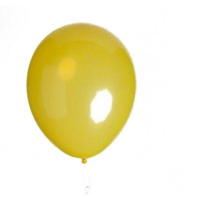 10 ballons déco jaunes