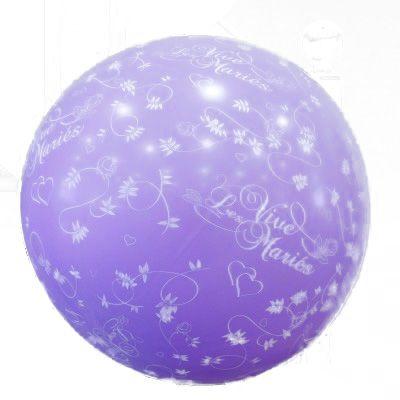 Ballon géant vive les mariés parme