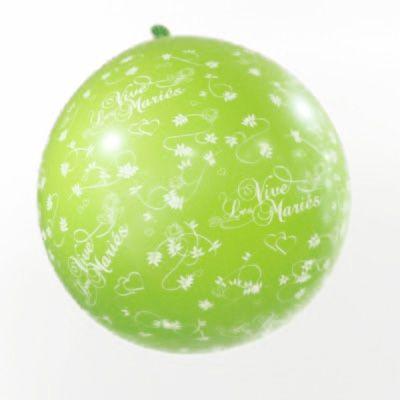 Ballon géant vive les mariés vert anis
