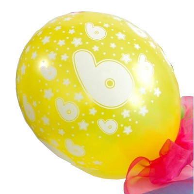 6 ballons âge enfants 6