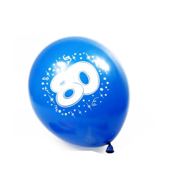 Ballons 80 ans (x8)