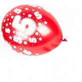 Ballons âge enfants (x6) chiffre 5