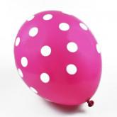 Ballons à pois de couleur (x6) fuchsia