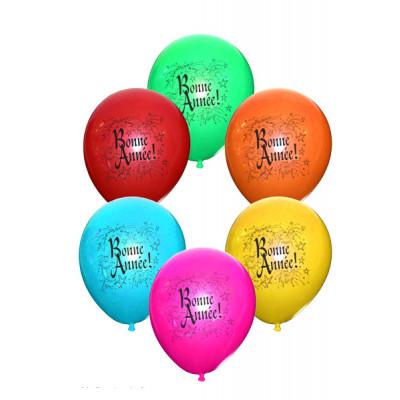 Ballons Bonne Année (x10) assorti