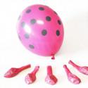 Ballons fuchsia à pois noirs (x6)