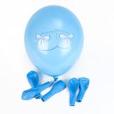 Ballons naissance (x6) bleu