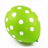 Ballons à pois de couleur (x6) vert anis