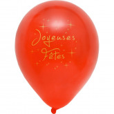 Ballons Joyeuses Fêtes (x8) rouge /or