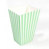 Boites à pop corn (x10) vert anis