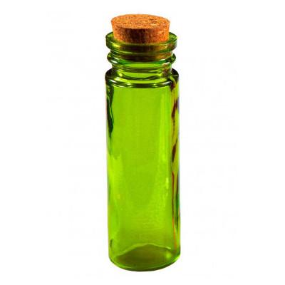 Tube en verre de couleur vert anis