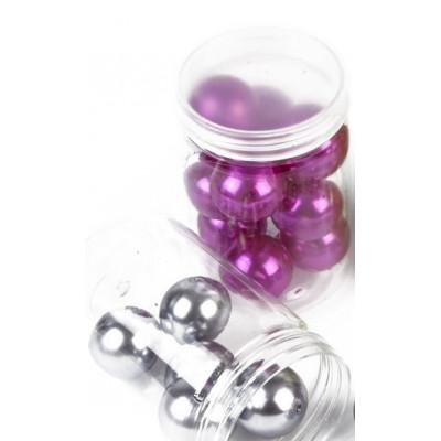 Grandes perles nacrées (x10) fuchsia