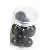 Grandes perles nacrées (x10) noir