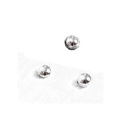Perles de pluie métallisées argent