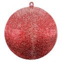Boule transparente pailletée rouge GM rouge