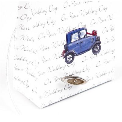 Boîtes nuptiales à musique bleu (x6)