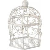 Cages à oiseaux blanc (x2)