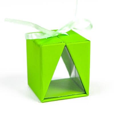 Boîtes cadeau (x4) vert fluo
