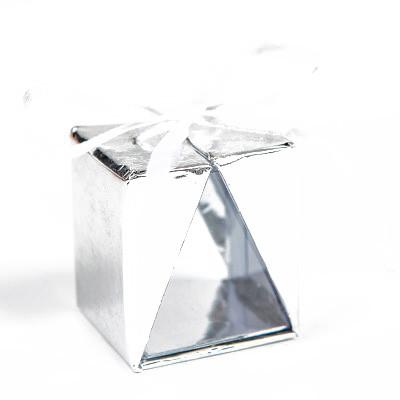 Boîtes cadeau (x4) argentée