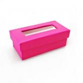 Boîtes à dragées rectangulaires (x6) fuchsia