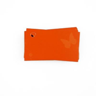 25 étiquettes de couleur orange