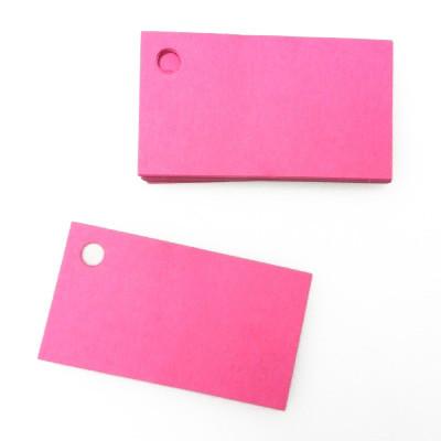 Etiquettes perforées unies de couleur (x25) fuchsia