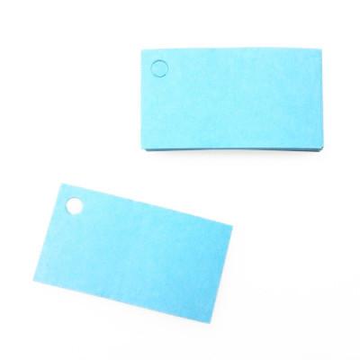Etiquettes perforées unies de couleur (x25) turquoise