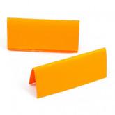 10 marque-places unis de couleur jaune