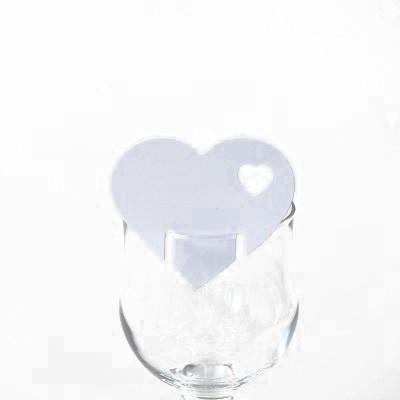 Décors de verre cœur (x12) blanc