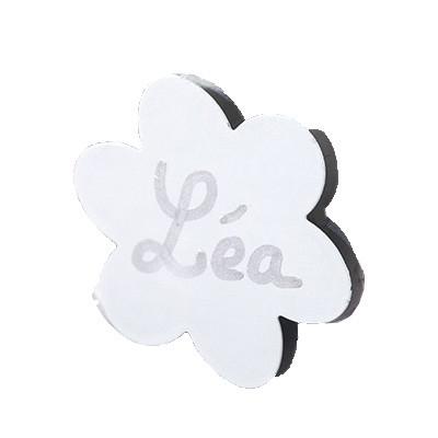 Fleurs métalliques aimantées (x6) blanc