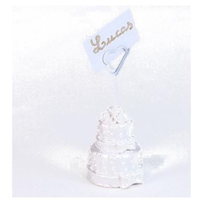 Marque-place gâteau de mariage irise