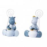 Marque-place Noukies bleu gris