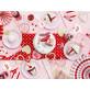 3 rosaces en papier couleur romantique