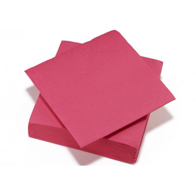 Serviettes cocktail fuchsia