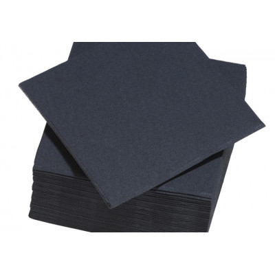 Serviettes de table noir