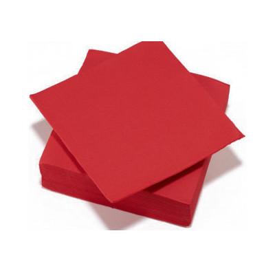 Serviettes de table rouge