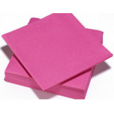 Serviettes de table rose