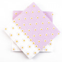 Serviettes en intissé pâquerettes (x20) rose