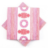 Serviettes vintage en intissé (x20) rouge / fuchsia