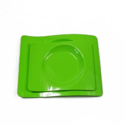Petites assiettes design vert anis (x6)