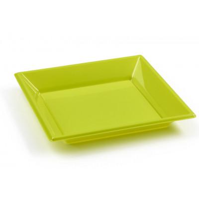 Assiettes à dessert carrées kiwi (x8)
