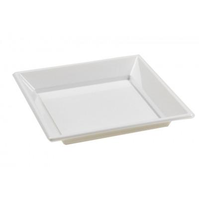 assiettes à dessert carrées blanches (x8)