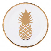 Assiettes Ananas or x8