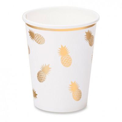 Gobelets Ananas or x8