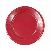 Assiettes carton de couleur (x20) bordeaux