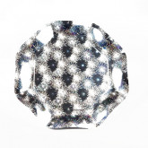 Assiettes feu d artifice argent (x8)