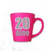 "Mug âge ""20 ans"" fuchsia"