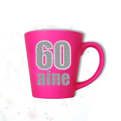 Mug âge « 60 ans » fuchsia