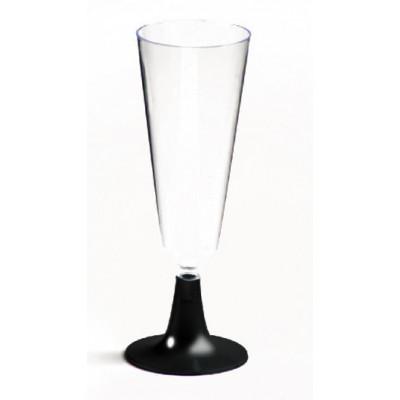 Flutes à champagne noir (x8)