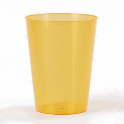 Gobelets en plastique estivaux (x6) orange